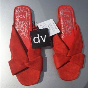 DV Adde Shoes Slides Size 11 red NWT Flats